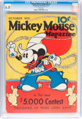 Platinum Age (1897-1937):Miscellaneous, Mickey Mouse Magazine #2 (K. K. Publications/ Western PublishingCo., 1935) CGC FN 6.0 White pages....