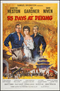 "55 Days at Peking (Allied Artists, 1963). One Sheet (27"" X 41"") & Lobby Card Set of 8 (11"" X 14""..."