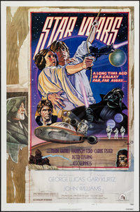 "Star Wars (20th Century Fox, 1978). One Sheet (27"" X 41"") Style D. Science Fiction"