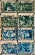 """Movie Posters:Serial, Tim Tyler's Luck (Universal, 1937). Title Lobby Cards (2) & Lobby Cards (6) (11"""" X 14"""") Chapter 7 -- """"The King of the Gorill... (Total: 8 Items)"""