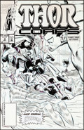 Original Comic Art:Covers, Pat Olliffe Thor Corps #2 Invaders Cover Original Art(Marvel, 1993)....