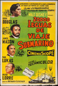 """Movie Posters:Science Fiction, 20,000 Leagues Under the Sea (Buena Vista, 1954). ArgentineanPoster (29"""" X 43.5""""). Science Fiction.. ..."""