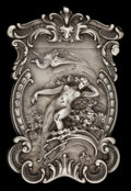 Silver Smalls:Match Safes, A KERR SILVER MATCH SAFE. Wm. B. Kerr & Co, Newark, New Jersey,circa 1900. Marks: (fasces), STERLING 33. 2-5/8 inches h...