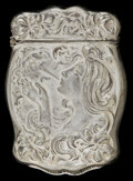Silver Smalls:Match Safes, AN AMERICAN SILVER-PLATED MATCH SAFE. circa 1900. Marks:SILVEROIN. 2-1/4 inches high (5.7 cm). ...