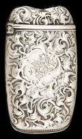 Silver Smalls:Match Safes, A WHITING SILVER MATCH SAFE. Whiting Manufacturing Company, NewYork, New York, circa 1900. Marks: (W-griffin), STERLING,...