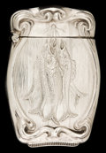 Silver Smalls:Match Safes, AN AMERICAN SILVER MATCH SAFE. Circa 1900. Marks: STERLING.2-1/2 inches high (6.4 cm). 0.73 troy ounces. ...