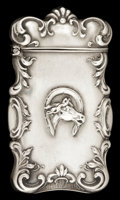 Silver Smalls:Match Safes, AN AMERICAN SILVER MATCH SAFE. Circa 1900. Marks: STERLING.2-5/8 inches high (6.7 cm). 0.64 troy ounces. ...