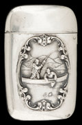 Silver Smalls:Match Safes, AN AMERICAN SILVER MATCH SAFE. Circa 1900. Marks: STERLING.2-3/8 inches high (6.0 cm). 1.00 troy ounces. ...
