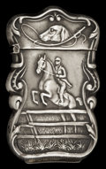 Silver Smalls:Match Safes, AN AMERICAN SILVER MATCH SAFE. Circa 1900. Marks: STERLING.2-1/2 inches high (6.4 cm). 0.45 troy ounces. ...