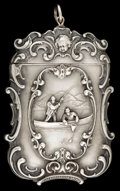Silver Smalls:Match Safes, AN AMERICAN SILVER MATCH SAFE. Circa 1900. Marks: STERLING.2-5/8 inches high (6.7 cm). 1.18 troy ounces. ...