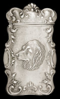 Silver Smalls:Match Safes, AN AMERICAN SILVER MATCH SAFE . Circa 1890. Marks: STERLING.2-5/8 inches high (6.7 cm). 0.73 troy ounces. ...