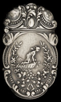 Silver Smalls:Match Safes, AN E&J BASS SILVER MATCH SAFE. E&J Bass, New York, NewYork, circa 1900. Marks: STERLING 925 B (in diamond). 2-3/8inche...