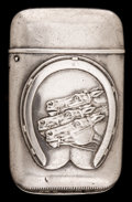 Silver Smalls:Match Safes, A HOWARD SILVER MATCH SAFE . Howard Sterling Co., Providence, RI,circa 1888. Marks: (shamrock), STERLING. 2-1/4 inches ...