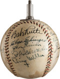 Autographs:Baseballs, 1934 Tour of Japan Team Signed Cigarette Lighter Baseball.. ...