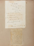 Autographs:Celebrities, James Edward Murdoch (1811-1893, American actor). Autograph LetterSigned. Affixed to larger backing; altogether measures 8....