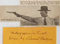 Autographs:Authors, Clarence Mulford (1883-1956, author of Hopalong Cassidy novels).Clipped Signature. Measures 5.25 x 3 inches. Fine. ...
