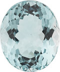 Estate Jewelry:Unmounted Gemstones, AN UNMOUNTED AQUAMARINE . ...