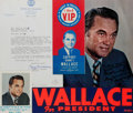 Autographs:Statesmen, Governor George Wallace Color Photograph and Typed Letter Signed.Ca. 1977. Measures roughly 8 x 10 inches. Fine. Also inclu...