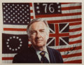 Autographs:Celebrities, News Anchor Walter Cronkite Color Photograph Signed. Ca. 1976.Measures roughly 9 x 7 inches. Fine. ...