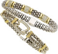 Jewelry, A PAIR OF DIAMOND, GOLD, SILVER BRACELETS, LAGOS. ... (Total: 2 Items)