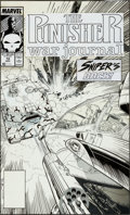 Original Comic Art:Covers, Jim Lee and Carl Potts The Punisher War Journal #10Sniper Cover Original Art (Marvel, 1989)....