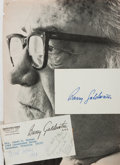 Autographs:Statesmen, Barry Goldwater (1909-1998, US Senator). Clipped Signature.Measures 3 x 5 inches. Includes various ephemera related to Gold...