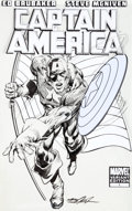 Original Comic Art:Covers, Neal Adams Captain America #1C Variant Cover Original Art(Marvel, 2011)....
