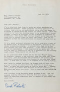 Autographs:Celebrities, Oral Roberts (1918-2009, televangelist). Typed Letter Signed. May 25, 1976. On author's stationery. Affixed to backing with ...