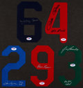 Baseball Collectibles:Uniforms, Collection of 5 Signed Jersey Numbers. ...