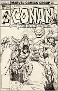 Original Comic Art:Covers, Gil Kane and Ernie Chan Conan the Barbarian #73 CoverOriginal Art (Marvel, 1977)....