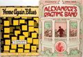 "Books:Music & Sheet Music, Pair of Irving Berlin Songbooks. Various publishers, 1911-1921. ""Alexander's Ragtime Band"" and ""Home Again Blues."" Covers de..."