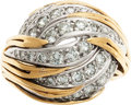 Estate Jewelry:Rings, A DIAMOND, GOLD RING. ...