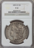 Morgan Dollars: , 1893-CC $1 Fine 12 NGC. NGC Census: (143/2844). PCGS Population (244/5151). Mintage: 677,000. Numismedia Wsl. Price for pro...
