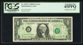 Error Notes:Offsets, Fr. 1907-C $1 1969D Federal Reserve Note. PCGS Extremely Fine45PPQ.. ...