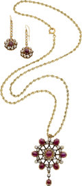 Estate Jewelry:Coin Jewelry and Suites, A RUBY, DIAMOND, GOLD SUITE. ...