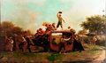 Books:Prints & Leaves, [American Heritage]. Eastman Johnson. Enhanced Print of The Old Stagecoach . Circa 1961. Print repro...