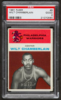 Basketball Cards:Singles (Pre-1970), 1961 Fleer Wilt Chamberlain #8 PSA Good 2....