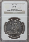 Trade Dollars: , 1877 T$1 XF45 NGC. NGC Census: (68/473). PCGS Population: (95/556). XF45. Mintage 3,039,710. ...