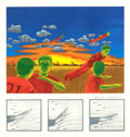 Fine Art - Work on Paper:Print, LEE N. SMITH III (American, b. 1950). Nights We Could Fly,1979. Serigraph in colors. 17-1/4 x 16-1/2 inches (43.8 x 41....