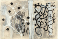 CHONG KEUN CHU (Korean/American, 20th Century) Seed #2, 1992 Charcoal with white highlights on paper