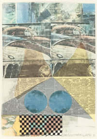 ROBERT RAUSCHENBERG (American, 1925-2008) Arcanum XI, 1981 Silkscreen in colors with collage 22-1