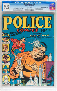 Police Comics #11 Mile High pedigree (Quality, 1942) CGC NM- 9.2 White pages