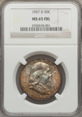 Franklin Half Dollars: , 1957-D 50C MS65 Full Bell Lines NGC. NGC Census: (555/159). PCGSPopulation (1911/363). Numismedia Wsl. Price for problem ...