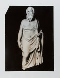 """Photography:Official Photos, [American Heritage] Photographic Reprint Depicting A GreekSculpture of Socrates. [n.d.]. 11"""" x 14"""". Image match..."""