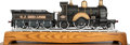 Paintings, LIVE STEAM MODEL LOCOMOTIVE 'ARCHIMEDES' AND TENDER. 16 x 53 x 12 inches (40.6 x 134.6 x 30.5 cm). Scratch built, well engin...