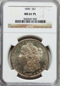 Morgan Dollars: , 1890 $1 MS61 Prooflike NGC. NGC Census: (23/262). PCGS Population(19/249). Numismedia Wsl. Price for problem free NGC/PCG...