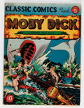 Golden Age (1938-1955):Classics Illustrated, Classic Comics #5 Moby Dick - First Edition (Gilberton, 1942) Condition: VG+....