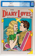 Golden Age (1938-1955):Romance, Diary Loves #2 Mile High pedigree (Quality, 1949) CGC NM 9.4Off-white to white pages....