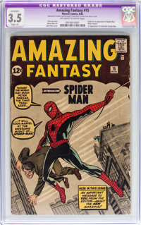Amazing Fantasy #15 (Marvel, 1962) CGC Apparent VG- 3.5 Slight (A) Off-white to white pages