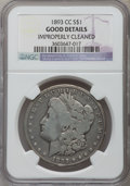 Morgan Dollars, 1893-CC $1 -- Improperly Cleaned -- NGC Details. Good. NGC Census: (115/3348). PCGS Population (88/5947). Mintage: 677,000....